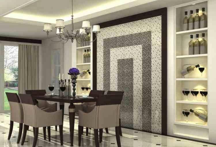 Modern Dining Room Wall Design Ideas