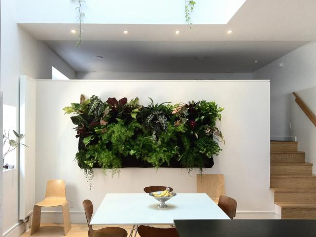 Dining Room Wall Decor Ideas: Vertical Garden - harpmagazine.com